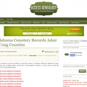 New Oklahoma Cemetery Transcriptions Added