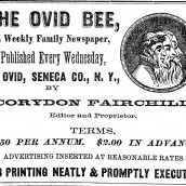 Genealogical Index to the Ovid Bee Newspaper – Ovid NY