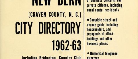 City Directories of New Bern, North Carolina 1911-1963