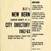 City Directories of New Bern, North Carolina 1911-1963
